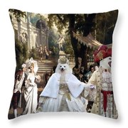 Volpino Italiano Art Canvas Print Throw Pillow
