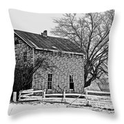 Warning House   Throw Pillow