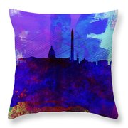 Washington Dc Watercolor Skyline 2 Throw Pillow