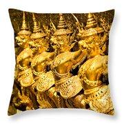 Wat Phra Kaeo Temple - Bangkok - Thailand.  Throw Pillow