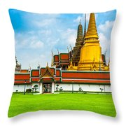 Wat Phra Kaew - Bangkok Throw Pillow