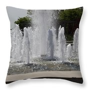Water Fountains Throw Pillow