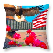 We Are All American's    Americans For All Throw Pillow