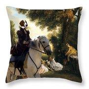 Welsh Springer Spaniel Art Canvas Print Throw Pillow