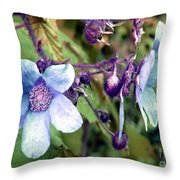 Wild Blue Rose Throw Pillow