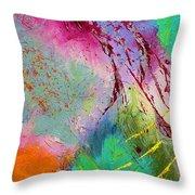 Modern Abstract Diptych Part 1 Throw Pillow