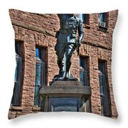 001 American Doughboy Over The Top To Victory Throw Pillow
