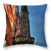 001 Antiques Throw Pillow