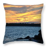 001 Awe In One Sunset Series At Erie Basin Marina Throw Pillow
