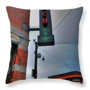001 Cantina Loco Throw Pillow