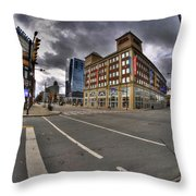 001 Delaware And The Chipp Stripp Throw Pillow