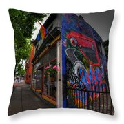 001 Glow Gallery Throw Pillow