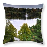 001 Hoyt Lake Autumn 2013 Throw Pillow