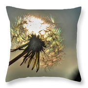 001 Make A Wish At Sunset Throw Pillow