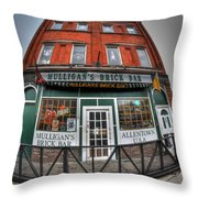 001 Mulligans Brick Bar Throw Pillow