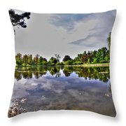 001 Reflecting At Forest Lawn Throw Pillow