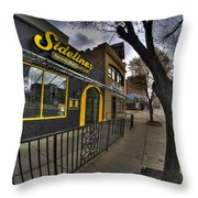 001 Sidelines Sports Bar And Grill Throw Pillow