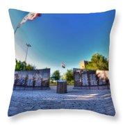 001 We Will Not Forget At The Erie Basin Marina Throw Pillow
