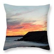 0010 Awe In One Sunset Series At Erie Basin Marina Throw Pillow