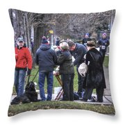 0010 Bloody Marys At The Turkey Trot 2014 Throw Pillow