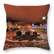 0010 Christmas Light Show At Roswell Series Throw Pillow
