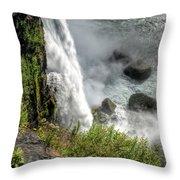 0010 Niagara Falls Misty Blue Series Throw Pillow