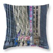 0010 Radio City Music Hall Throw Pillow
