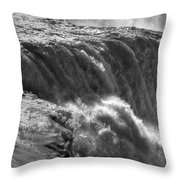 0010a Niagara Falls Winter Wonderland Series Throw Pillow