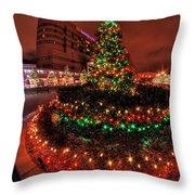 0011 Christmas Light Show At Roswell Series Throw Pillow