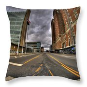0011 Delaware Ave Throw Pillow