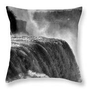 0011a Niagara Falls Winter Wonderland Series Throw Pillow