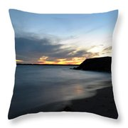 0012 Awe In One Sunset Series At Erie Basin Marina Throw Pillow