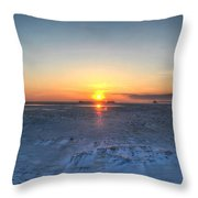 0012 Even On Our Coldest Days We Still Get Blessed With Gorgeous Rays Series Throw Pillow by Michael Frank Jr