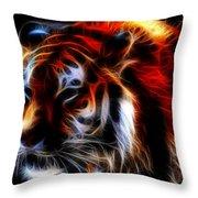 0012 Siberian Tiger Throw Pillow