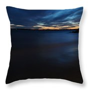 0013 Awe In One Sunset Series At Erie Basin Marina Throw Pillow