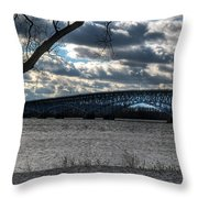 0013 Grand Island Bridge Series Throw Pillow