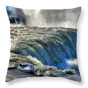 0013 Niagara Falls Winter Wonderland Series Throw Pillow