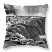 0013a Niagara Falls Winter Wonderland Series Throw Pillow