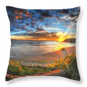 0014 Awe In One Sunset Series At Erie Basin Marina Throw Pillow