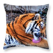 0014 Siberian Tiger Throw Pillow