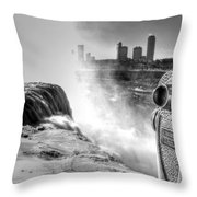 0014a Niagara Falls Winter Wonderland Series Throw Pillow