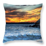 0015 Awe In One Sunset Series At Erie Basin Marina Throw Pillow