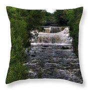 0015 Glen Falls Of Williamsville New York Series  Throw Pillow