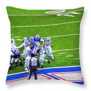 0016  Buffalo Bills Vs Jets 30dec12 Throw Pillow