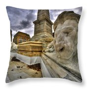 0016 Lions At The Square Throw Pillow