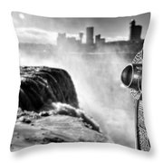 0016a Niagara Falls Winter Wonderland Series Throw Pillow