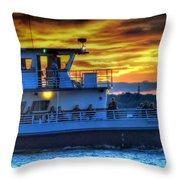 0017 Awe In One Sunset Series At Erie Basin Marina Throw Pillow