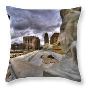 0017 Lions At The Square  Throw Pillow