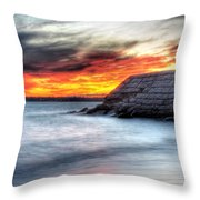0018 Awe In One Sunset Series At Erie Basin Marina Throw Pillow