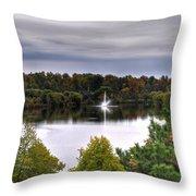 0018 Hoyt Lake Autumn 2013 Throw Pillow